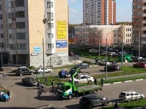 Работают эвакуаторы в граде Московском 2 октября 2014