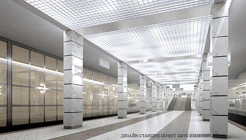 вероятный дизайн станции метро Московский град
