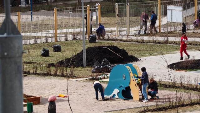 субботник детский сад в граде Московском