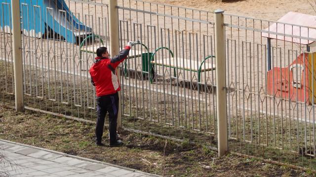 субботник в детском саду в град Московский