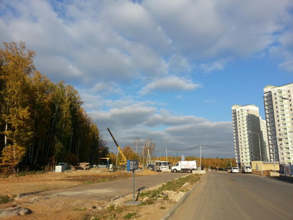 строительство в 1 городе-парке Московский