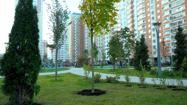 град Московский 1 город парк озеленение