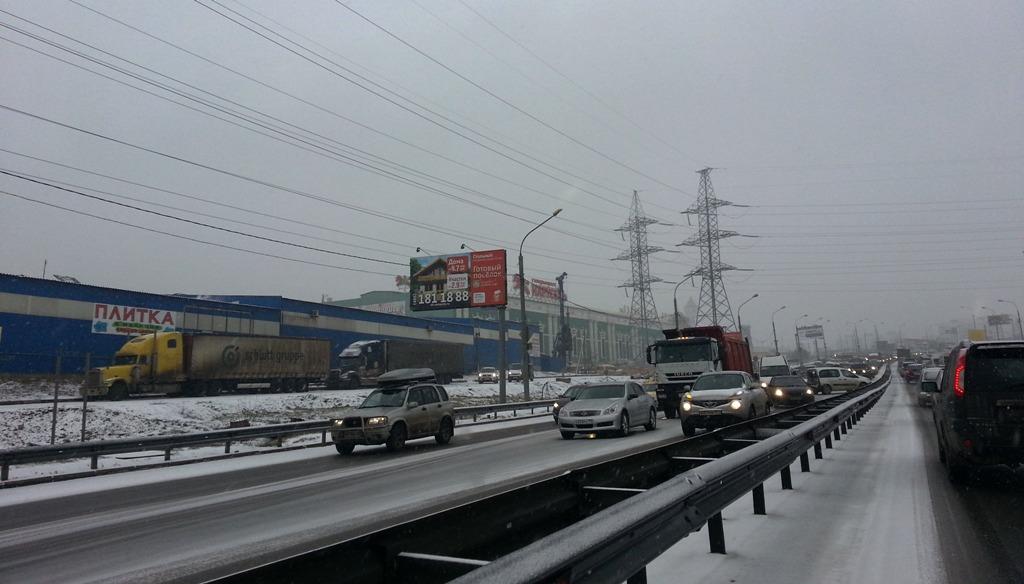 МКАД ДТП на пересечении с Калужской трассой